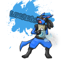 448 Lucario (for PokeNinjaGirl) by Jaden-Lau