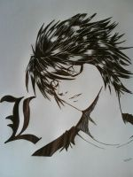 L from Death Note Anime by Law3208