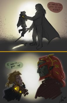 Link and Ganondorf Battle by Filesia