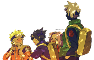 naruto and friends render by kobatohanato96