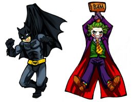 Hanging Bats and Clowns by loonylucifer