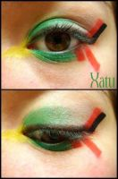 Pokemon Makeup: Xatu by Steffmiesterx13
