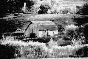 Barn with charcoal filter in Photoshop by XpressivePhotography