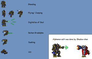 Alphamon Sprite Sheet by XxXShadow-chanXxX