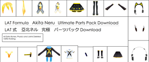 .:Parts DL:. LAT Akita Neru Ultimate Parts Pack by MMDAnimatio357