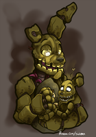 FNAF - Single Dads: Springtrap by Kayla-Na