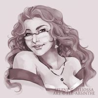 Portrait Commission: Selene by fee-absinthe