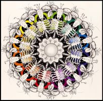 Ram skull Mandala (Color Wheel) by Decora-Chan