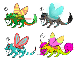 LOWERED PRICES Oriental pixie dragons- Adoptables by micks-breedsnadopts
