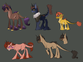 (CLOSED) Corrupted Unicorn Breedable by Amiookamiwolf