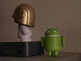 Daft Punk Munny and Android by taiwaneezy