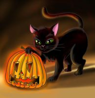 Halloween Cat by Luckytrefle