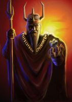 Odin - Norse Godfather by Dinoforce