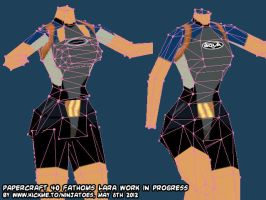 Papercraft Tomb Raider II 40 Fathoms Lara WIP2! by ninjatoespapercraft