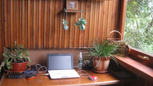 Summertime workspace by MaryBlick