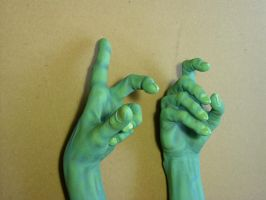 Painted Wicked Witch of the West Hands (Close Up) by DaVinci41