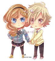 -- Chibi Commission for VanilleCream -- by Kurama-chan
