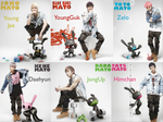 B.A.P Bunnies Wallpaper with Member Names! by PurplePassionFire