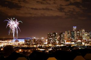 Downtown Denver Fireworks by designKase
