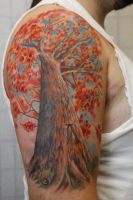 Autumn Tree Half Sleeve by seanspoison