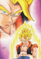 Gogeta SSJ - Colored Drawing by InlineSpeedSkater