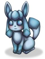 Glaceon - Painty Doodle by sugar0coated