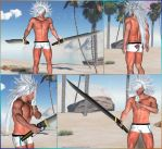 FF VII DoC - Weiss the Immaculate at beach - 2015 by Anarloth