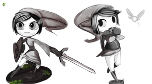 Meloetta - Linkletta Sketches by TheBoogie