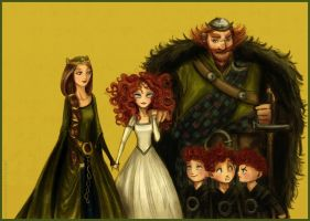 'Brave' Family portrait by Arbetta