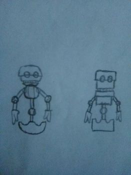Orbot and Cubot by JoshuaTheFurry