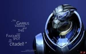 ME3 Wallpaper - Garrus by pineappletree