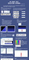 MS Paint Text Reflection Tutorial by Albels-wish
