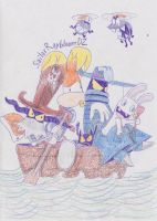 Though theyre on one boat, theyre still enemies by SailorRaybloomDZ