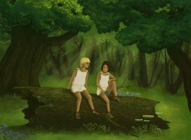 In the woods by Windbell