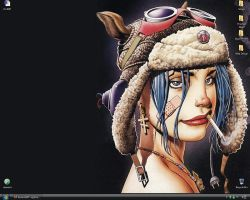 Tank Girl and Vista Desktop by eightseven