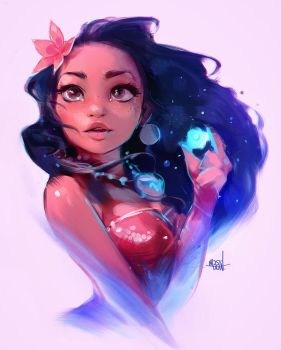 Moana sketch by rossdraws