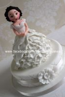 Bride cake or cupcake - how to video by zoesfancycakes