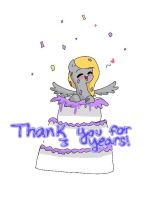 Thank you For 3 Years!! by Silvermist109