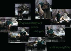 Magical assistance + zombie stock (more in folder) by Blossom-Lullabies