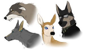 Headshot Commissions // Batch 1 by Serphire
