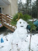 Bed Head Snowman by anelphia