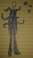 Slenderman doodle by Perianth5
