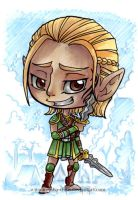 DA:O Zevran mini art by KeyshaKitty