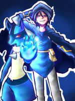 Lucario and Aaron by JojoLemonJuice