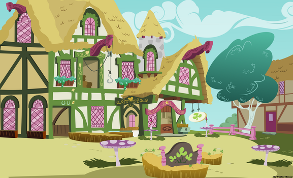 Ponyville restaurant by Vector-Brony