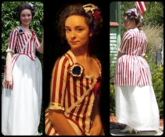 Independence/ Bastille Day Dress by JabberBabyWocky645