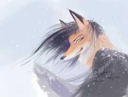 snow fox by Orphen-Sirius