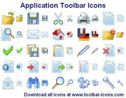 Application Toolbar Icons by Ikont
