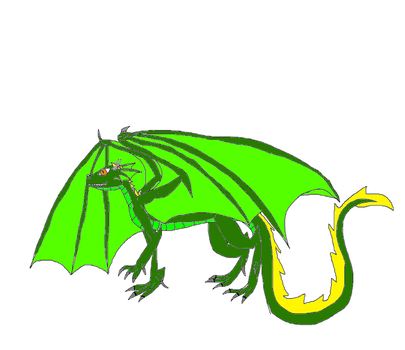 Ganni the green dragon Abopt {open} by deeznuts300
