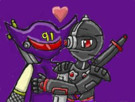 Robot Ninja Lovers by SurgeCraft